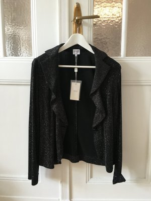 Armani Short Blazer black-silver-colored
