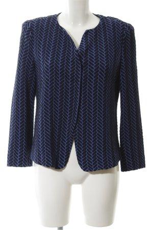 Armani Collezioni Blouson noir-bleu acier motif en zigzag style décontracté
