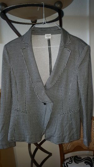 Armani Collezioni Blazer en jersey blanc-noir