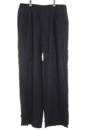 Armani Collezioni High Waist Trousers black striped pattern casual look