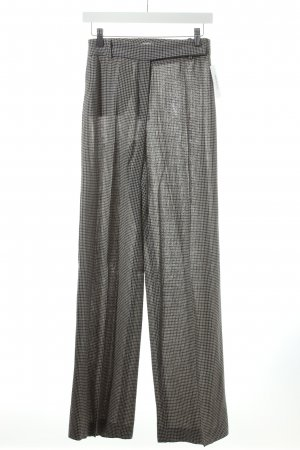 Armani Collezioni High-Waist Hose anthrazit-creme Pepitamuster Business-Look