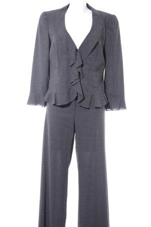 Armani Collezioni Broekpak donkergrijs gestippeld zakelijke stijl