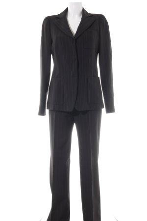 Armani Collezioni Trouser Suit black-natural white pinstripe business style