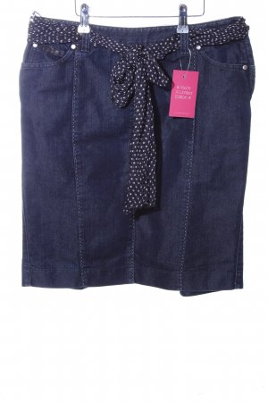 Armani Collezioni Denim Skirt blue spot pattern casual look