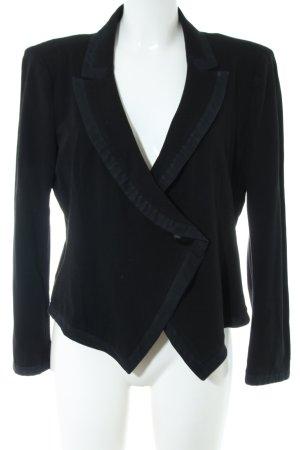 Armani Collezioni Blazer en jersey noir style d'affaires