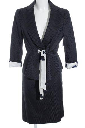 Armani Collezioni Tailleur bleu foncé motif abstrait style d'affaires