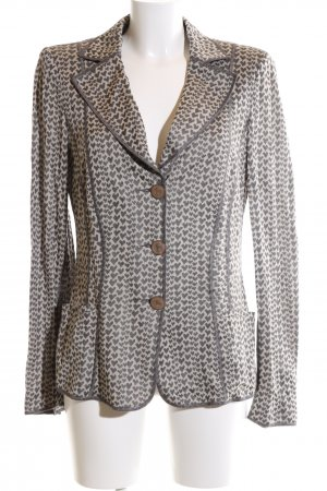 Armani Collezioni Short Blazer light grey-natural white allover print