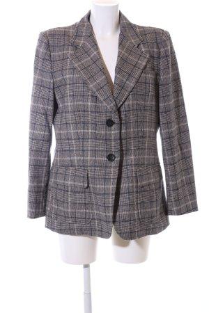 Armani Collezioni Blazer court gris clair-brun motif à carreaux