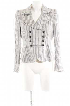 Armani Collezioni Short Blazer white-light grey striped pattern business style