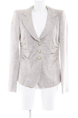 Armani Collezioni Korte blazer beige-room gestippeld elegant