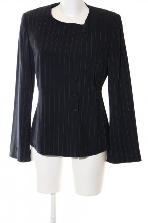 Armani Collezioni Short Blazer black striped pattern business style