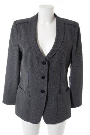 Armani Collezioni Korte blazer donkerblauw-wit zakelijke stijl