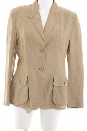 Armani Collezioni Kurz-Blazer nude Allover-Druck Business-Look