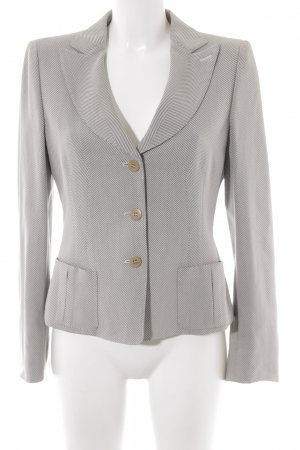 Armani Collezioni Short Blazer black-oatmeal business style