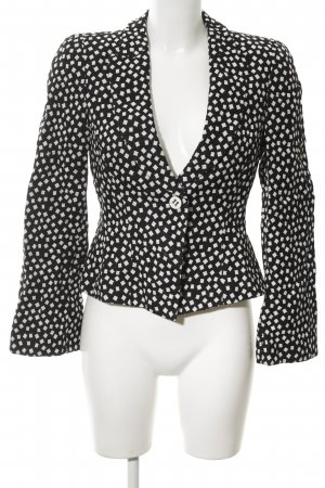 Armani Collezioni Short Blazer black-white shepherd's check pattern