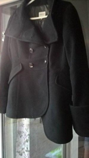 Armani Collezioni Wollen Jack zwart Gemengd weefsel