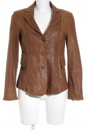 Armani Collezioni Leather Jacket cognac-coloured casual look