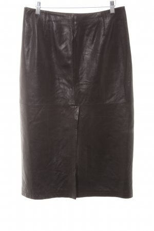 Armani Collezioni Leather Skirt multicolored elegant