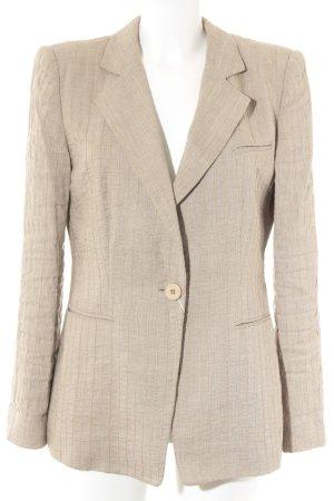 Armani Collezioni Blazer lungo beige gessato stile casual