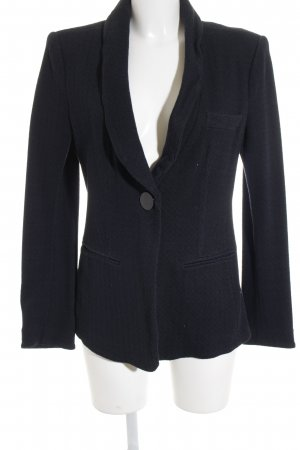 Armani Collezioni Long-Blazer dunkelblau Zackenmuster Business-Look