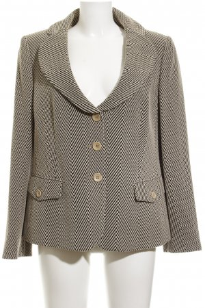 Armani Collezioni Long-Blazer hellbeige-schwarz abstraktes Muster Business-Look