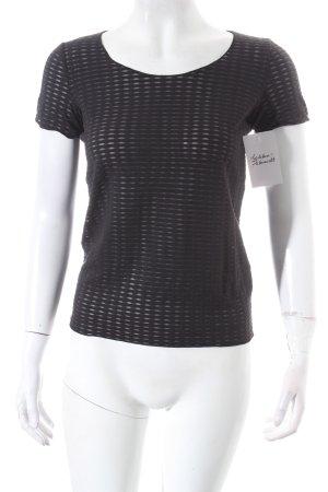 Armani Collezioni Pullover grau-schwarz Casual-Look