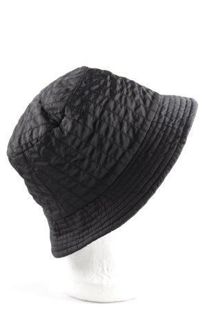 Armani Collezioni Rain Hat black quilting pattern casual look