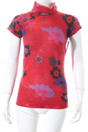 Armani Collezioni Rollkragenpullover florales Muster Casual-Look