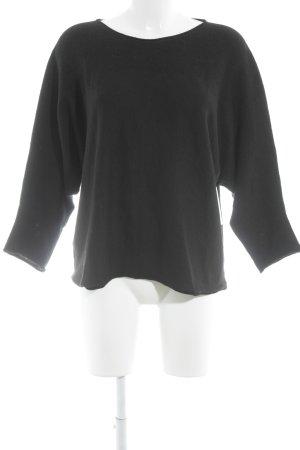 Armani Collezioni Rundhalspullover schwarz schlichter Stil