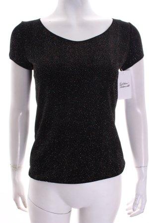 Armani Collezioni Shirt schwarz extravaganter Stil