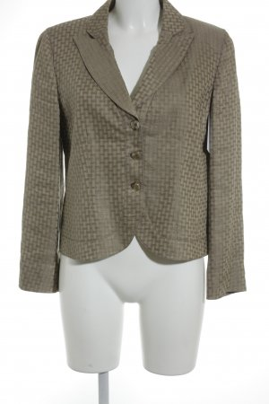 Armani Collezioni Smoking-Blazer creme-beige abstraktes Muster Casual-Look