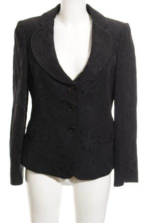 Armani Collezioni Blazer de esmoquin negro estampado floral estilo «business»