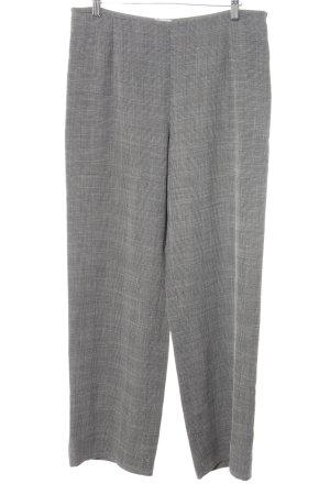 Armani Collezioni Pantalon en jersey gris-noir motif Prince de Galles