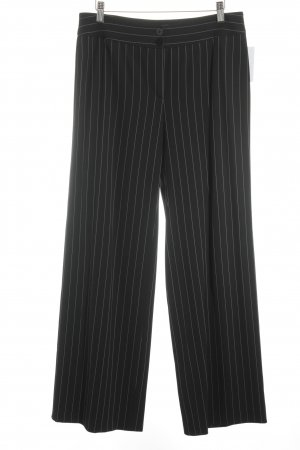 Armani Collezioni Jersey Pants black-white pinstripe business style