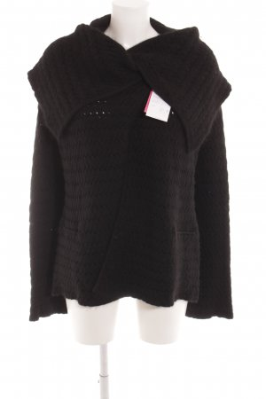 Armani Collezioni Strickjacke schwarz Casual-Look