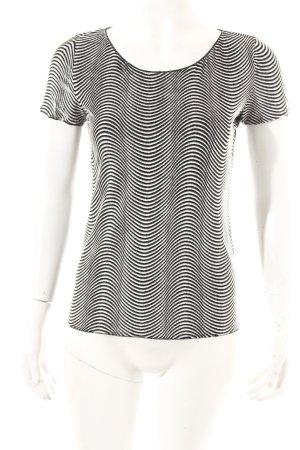 Armani Collezioni T-Shirt schwarz-weiß Casual-Look