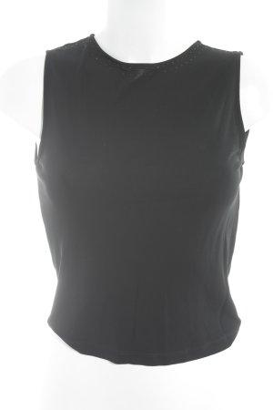 Armani Collezioni Trägertop schwarz schlichter Stil