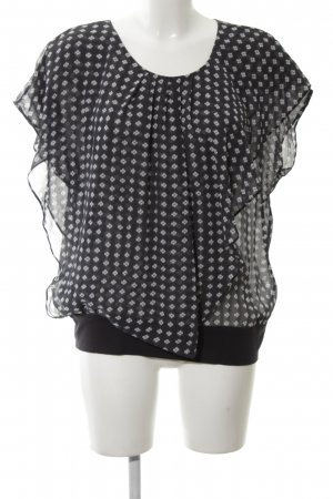 Armani Collezioni Transparent Blouse black-natural white allover print