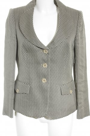 Armani Collezioni Tweedblazer beige-hellbraun grafisches Muster Business-Look