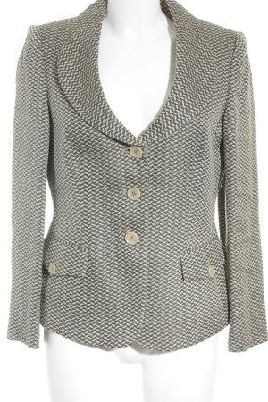 Armani Collezioni Tweed blazer beige-lichtbruin grafisch patroon zakelijke stijl