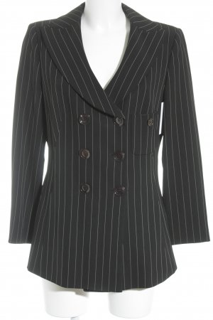 Armani Collezioni Tweedblazer schwarz-weiß Nadelstreifen Business-Look