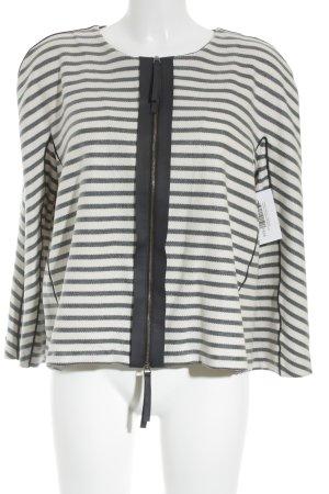 Armani Collezioni Blazer Tweed blanco puro-azul oscuro estampado a rayas