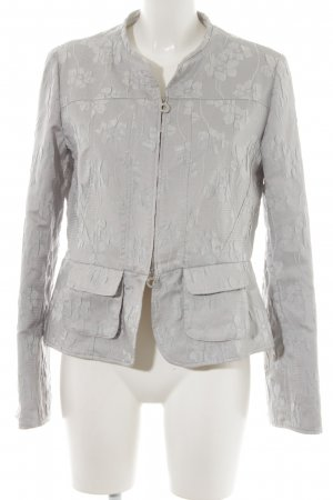 Armani Collezioni Between-Seasons Jacket light grey floral pattern casual look