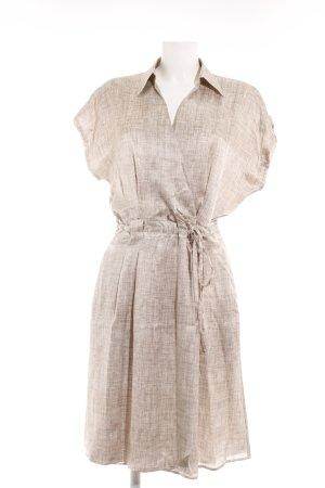 Armani Collezioni Robe portefeuille blanc cassé-marron clair motif abstrait