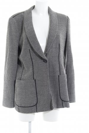 Armani Collezioni Wollen blazer zwart-wolwit simpele stijl