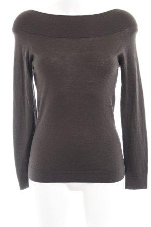 Armani Collezioni Jersey de lana taupe look casual