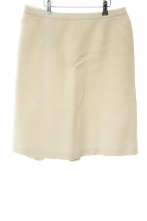 Armani Collezioni Wool Skirt cream allover print classic style
