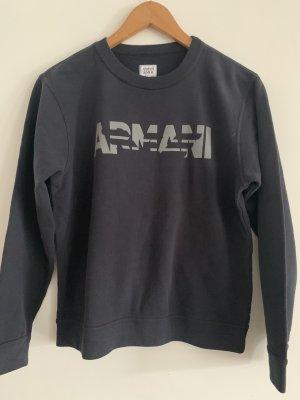 Armani Pull tricoté noir-gris