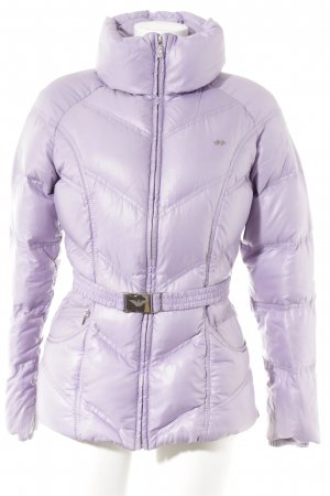 Armani Down Jacket mauve-silver-colored casual look