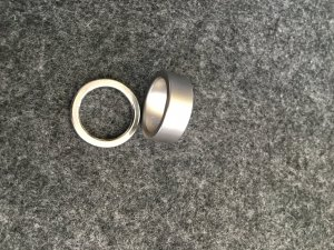 Armani Ring light grey stainless steel